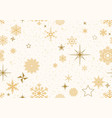 christmas pattern with golden decoration vector image vector image