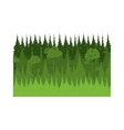 colorful lanscape with natural pines vector image vector image