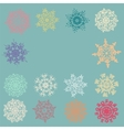 cute retro snowflakes vector image