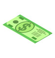 dollar bancnote icon isometric style vector image vector image