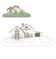 Draw house educational game vector image vector image