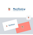fires logotype with business card template vector image