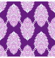 Floral leaf violet lotus Indian paisley ornament vector image