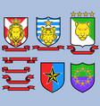 golden big cat royal emblem vector image vector image