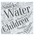 Great Backyard Snacks for Children Word Cloud vector image vector image