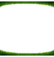 green grass frame white background vector image vector image