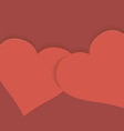 Greeting card with heart for Valentines Day vector image