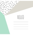 Hello card with geometric shapes vector image vector image