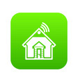 home icon green vector image vector image