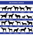 hunting dogs silhouettes vector image vector image