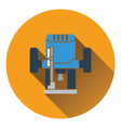 Icon of plunger milling cutter vector image vector image