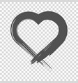 image of the heart inflicted with a brush vector image vector image