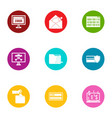 inaccuracy icons set flat style vector image vector image