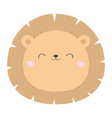 lion round face head icon kawaii animal cute vector image