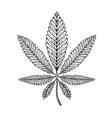 Marijuana ethnic graphic style Cannabis vector image