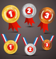 Medals Awards Set vector image vector image