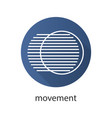 movement flat linear long shadow icon vector image vector image