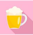 mug of german beer icon flat style vector image vector image