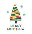 paper christmas tree poster vector image vector image