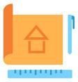 plan sketch flat icon vector image