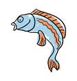 sea fish hand drawn isolated icon vector image