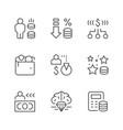 set line icons royalty program vector image