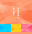 set low poly trendy abstract background modern vector image