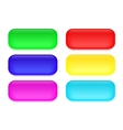 Set of colored glass buttons vector image vector image