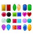 set of realistic precious stones vector image