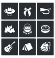 Set of Scouting Icons Hat Tie Whistle vector image vector image