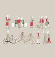 set old people doing sport vector image vector image