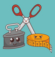 sewing elements funny characters vector image vector image