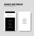 simple and minimalist business card template vector image