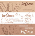 sketch ice cream banners template vector image vector image