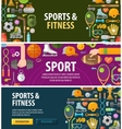 sport logo design template fitness or gym vector image