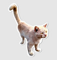 sticker cute cat looking up vector image