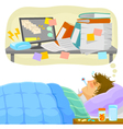 stressful sick leave vector image vector image