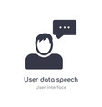 user data speech interface outline icon isolated vector image vector image
