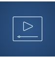 Video player line icon vector image vector image