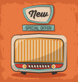 vintage technology radio music special offer retro vector image