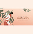 womens day tropical black woman web template vector image vector image