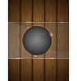 Wooden background with glass vector image vector image