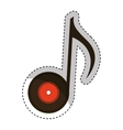 vinyl with music note vector image
