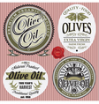 set of labels for olives oil vector image