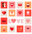 icon of love symbol for valentine day vector image