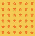 yellow color pattern of shells and starfish vector image