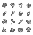 Icon set - vegetable vector image