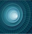 Abstract 3d blue spiral tunnel vector image vector image