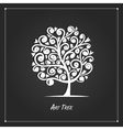Art tree for your design on black background vector image vector image
