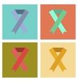 assembly flat icons gay HIV ribbon vector image vector image